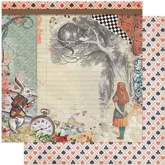 Papel-Scrapbook-Litoarte-305x305-SD-1131-Alice-Gato-e-Coelho