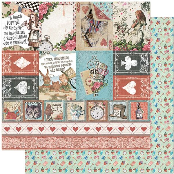 Papel-Scrapbook-Litoarte-305x305-SD-1133-Alice-Tags