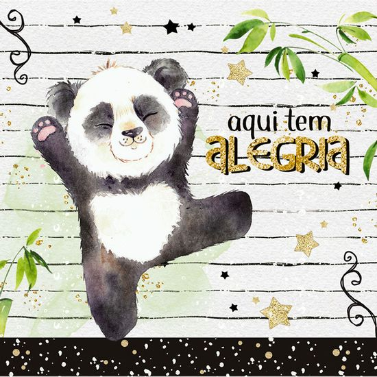 Papel-Decoupage-Adesiva-Litoarte-DAX-174-10x10cm-Panda-Menino