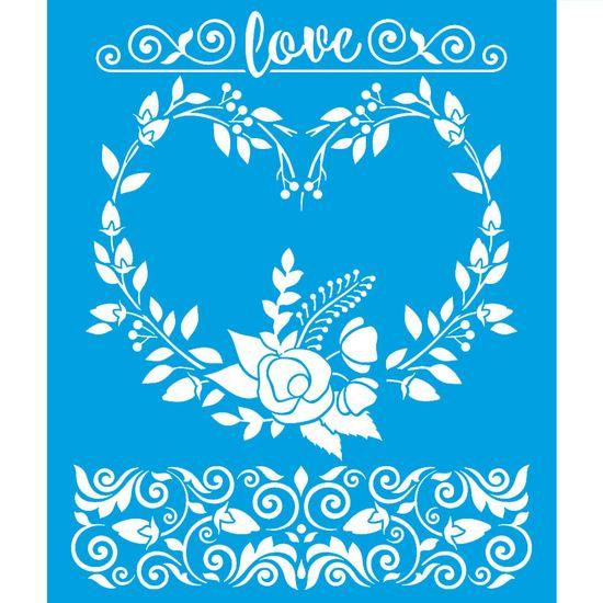 Stencil-Litoarte-25x20-STR-150-Coracao-de-Flores