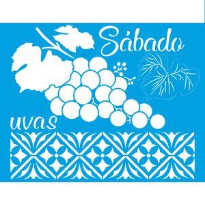 Stencil-Litoarte-25x20-STR-159-Sabado-Uvas