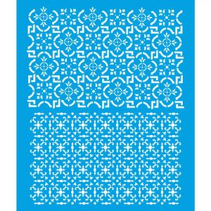 Stencil-Litoarte-25x20-STR-163-Azulejo-Retangular