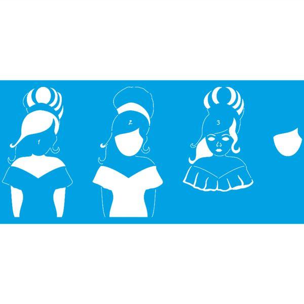 Stencil-Litoarte-42x17-STG-085-Bonecas-Mulheres