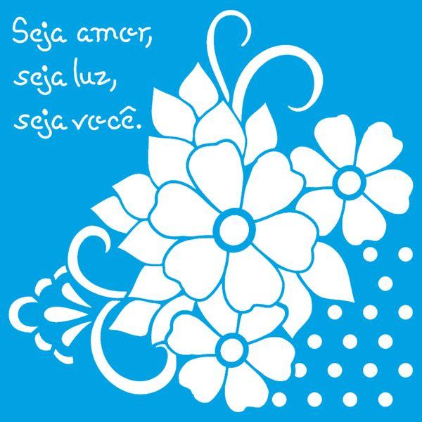 Stencil-Litoarte-14x14-STA-133-Cantoneira-Flores