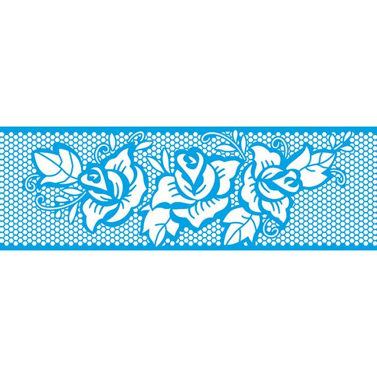 Stencil-Litoarte-28x8-STAB2-023-Barrado-Renda-Rosas