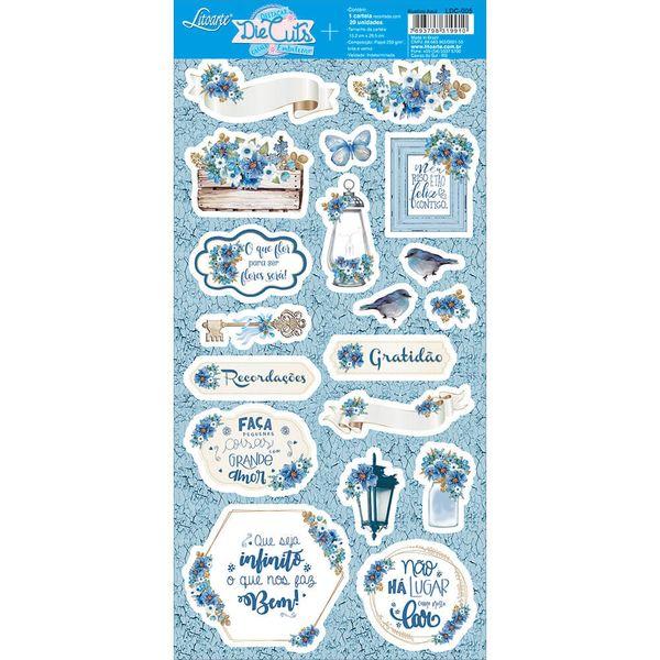 Apliques-de-Papel-Recortado-Litoarte-LDC-005-Die-Cuts-Scrapbook-Rustico-Azul