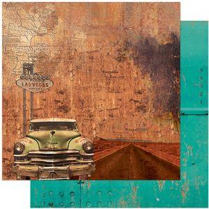 Papel-Scrapbook-Litoarte-305x305-SD-1109-Rustico-Carro-Las-Vegas