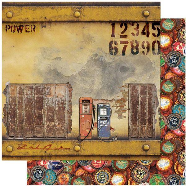 Papel-Scrapbook-Litoarte-305x305-SD-1110-Rustico-Bomba-de-Gasolina