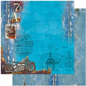 Papel-Scrapbook-Litoarte-305x305-SD-1112-Rustico-Motos