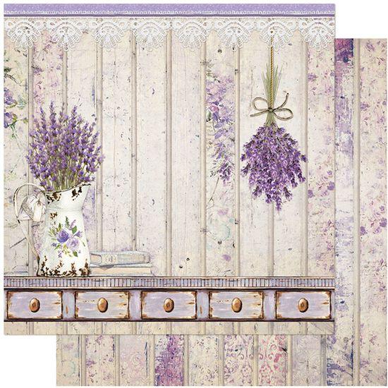 Papel-Scrapbook-Litoarte-305x305-SD-1116-Jarro-com-Lavanda