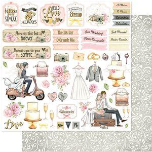 Papel-Scrapbook-Litoarte-305x305-SD-1121-Noivos-Flores