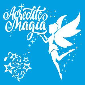 Stencil-Litoarte-20x20-STXX-167-Fada-Magia