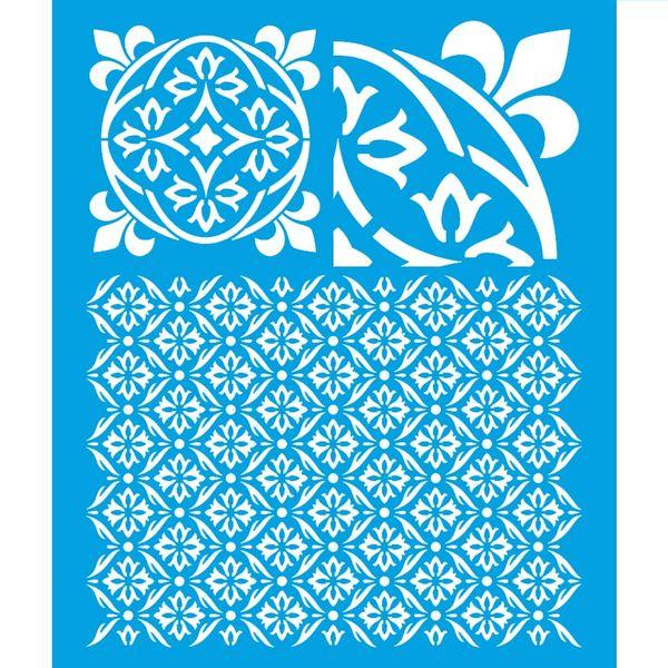 Stencil-Litoarte-25x20-STR-164-Estampa-Azulejo