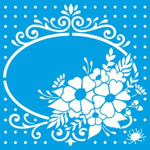 Stencil-Litoarte-20x20-STXX-159-Moldura-Flores