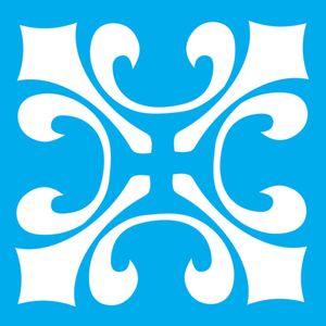 Stencil-Litocart-14x14-LSP-092-Ladrilho-Flor-de-Lis