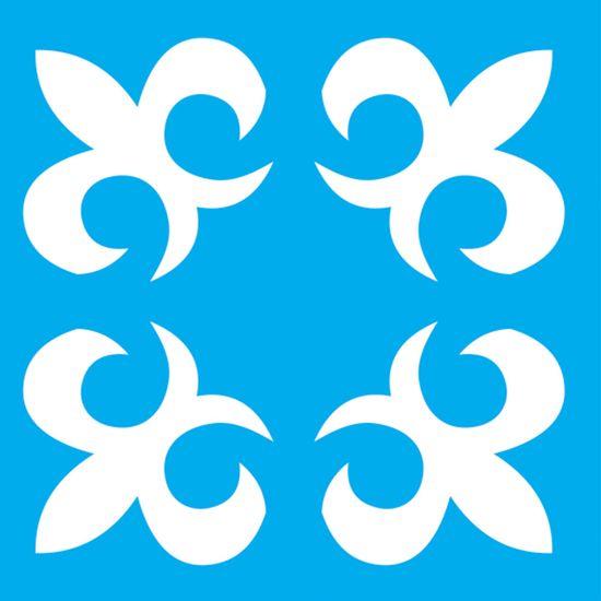 Stencil-Litocart-14x14-LSP-093-Flor-de-Lis