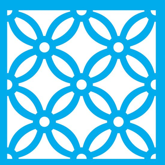 Stencil-Litocart-14x14-LSP-096-Ladrilho-Flor