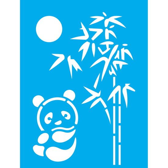 Stencil-Litocart-20x15-LSM-181-Urso-Panda-e-Bambu