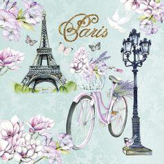 Guardanapo-Decoupage-Ambiente-Luxury-BIKE-IN-PARIS-13314235-2-unidades-Bicicleta-em-Paris