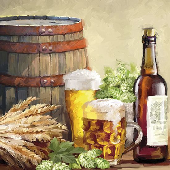 Guardanapo-Decoupage-Ambiente-Luxury-BEER-AND-HOPS-13310110-2-unidades-Cervejas