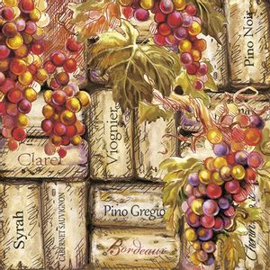 Guardanapo-Decoupage-Ambiente-Luxury-GRAPES---CORKS-13312385-2-unidades-Uvas