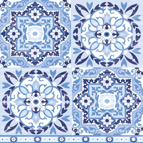 Guardanapo-Decoupage-Ambiente-Luxury-TILES-BLUE-13309317-2-unidades-Azulejo-Azul