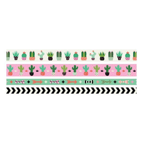 Kit-Fita-Adesiva-Decorativa-Washi-Tape-WER399-Suculentas-com-4-pecas