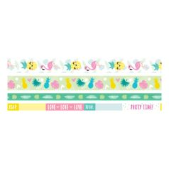 Kit-Fita-Adesiva-Decorativa-Washi-Tape-WER400-Tropical-com-4-pecas