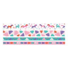 Kit-Fita-Adesiva-Decorativa-Washi-Tape-WER401-Unicornios-com-4-pecas