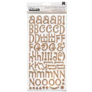 Adesivo-Thickers-Chipboard-EVA-WER243-Alfabeto-Glitter-Dourado
