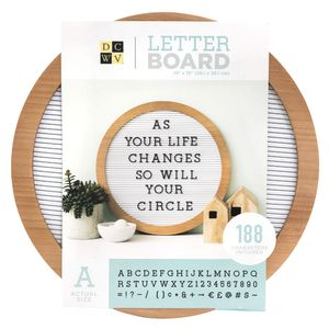 Quadro-Mural-Letreiro-Circular-WER385-38cm-Roundwood-Letterboard