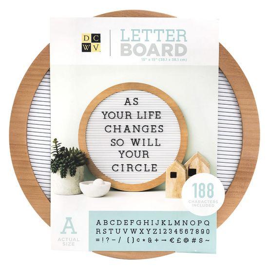Quadro-Mural-Letreiro-Circular-WER385-38cm-Roundwood-Letterboard