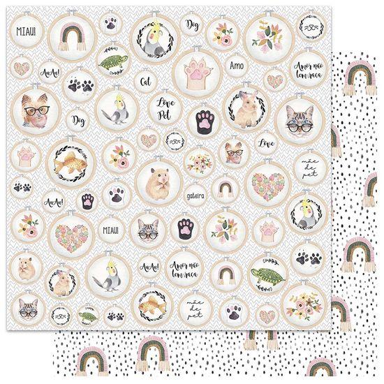 Papel-Scrapbook-My-Memories-Crafts-305x305-MMCMP-005-My-Love-for-Pets