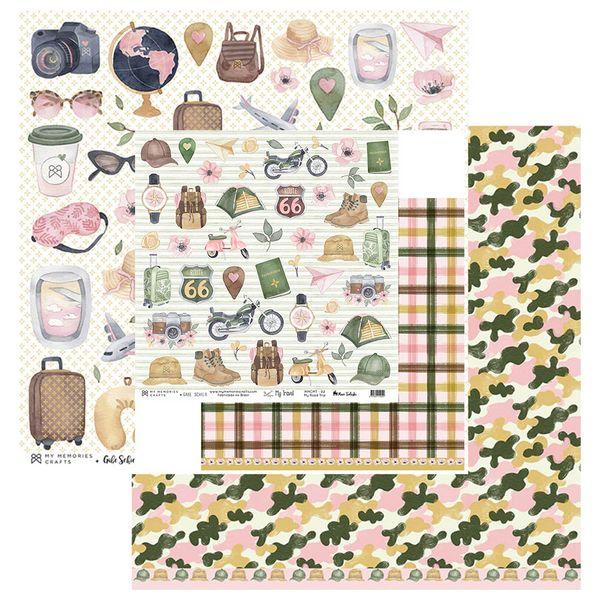 Papel-Scrapbook-My-Memories-Crafts-305x305-MMCMT-002-My-Road-Trip