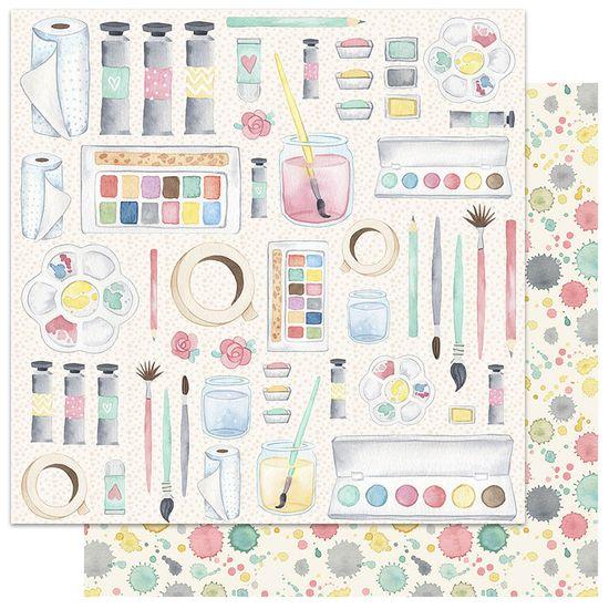 Papel-Scrapbook-My-Memories-Crafts-305x305-MMCMC-003-My-Colorful-Life