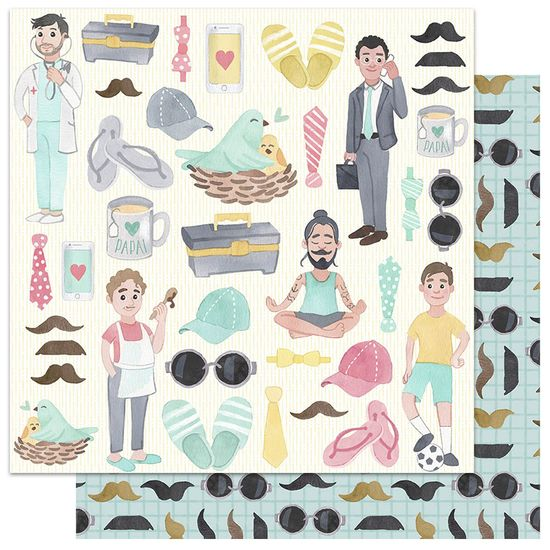 Papel-Scrapbook-My-Memories-Crafts-305x305-My-Dad-MMCMF-002-Pai