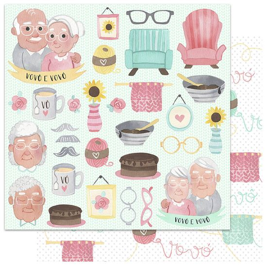 Papel-Scrapbook-My-Memories-Crafts-305x305-My-Granny-MMCMF-003-Vovo-e-Vovo