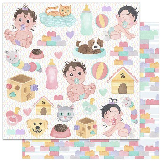 Papel-Scrapbook-My-Memories-Crafts-305x305-My-Children-MMCMF-004-Criancas
