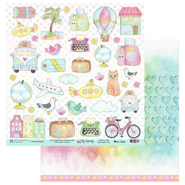 Papel-Scrapbook-My-Memories-Crafts-305x305-MMCMJ-004-My-Dream-Trip