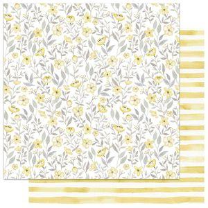 Papel-Scrapbook-My-Memories-Crafts-305x305-MMCMFL-002-My-Flower-Amarelo