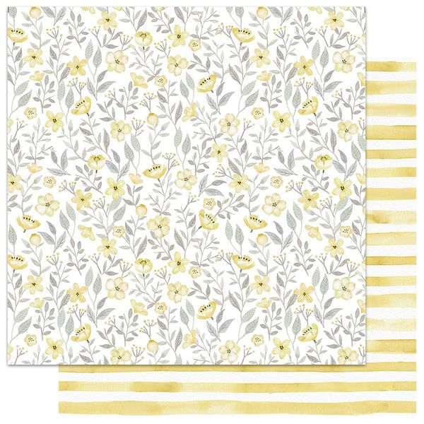 Papel-Scrapbook-My-Memories-Crafts-305x305-MMCMFL-002-My-Flower-Amarelo