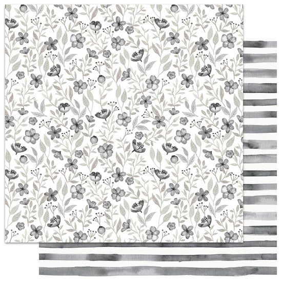 Papel-Scrapbook-My-Memories-Crafts-305x305-MMCMFL-006-My-Flower-Preto