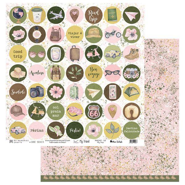 Papel-Scrapbook-My-Memories-Crafts-305x305-MMCMT-003-My-Trip