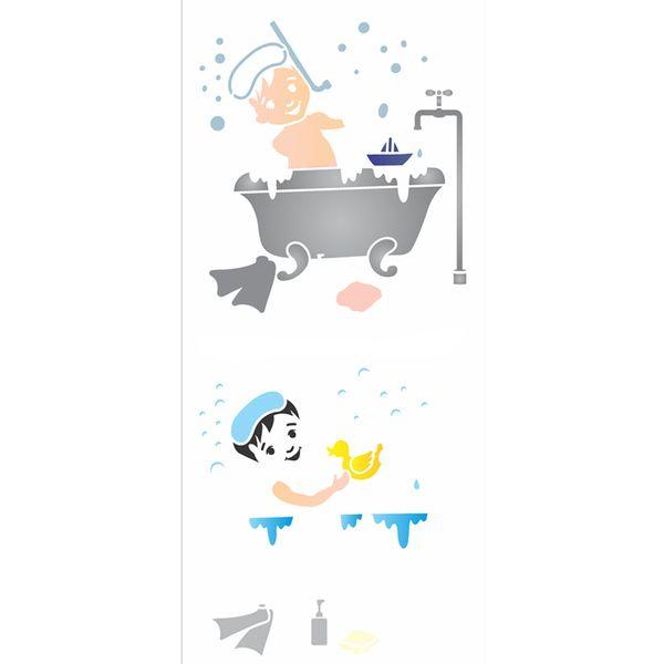Stencil-OPA-17x42-2878-Infantil-Menino-Banho