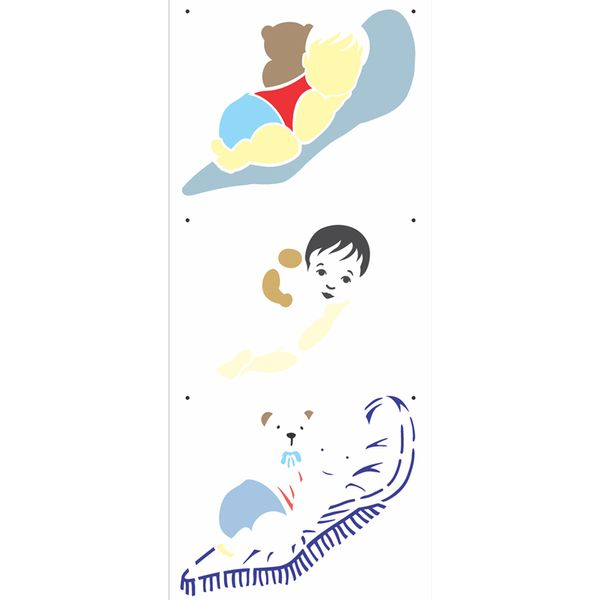Stencil-OPA-17x42-2882-Infantil-Bebe-Deitado