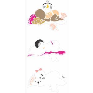 Stencil-OPA-17x42-2877-Infantil-Bebe-Deitada