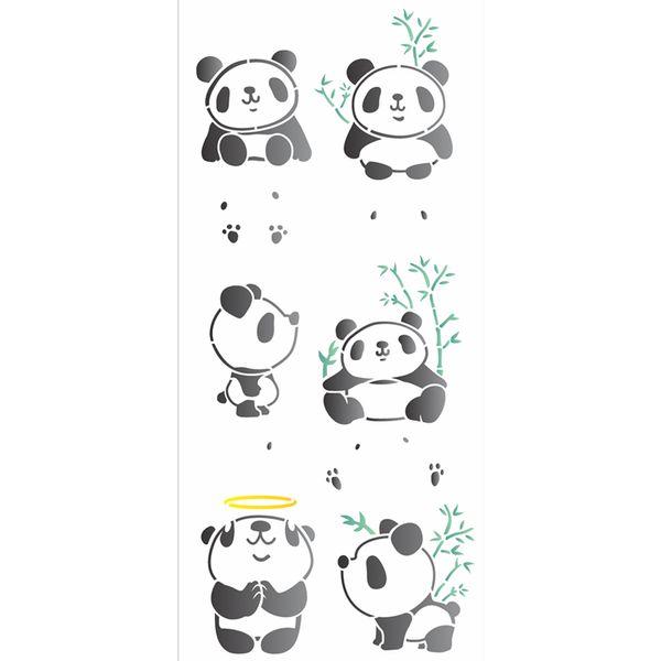 Stencil-OPA-17x42-2875-Infantil-Pandas