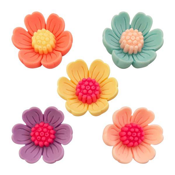 Aplique-Charminhos-para-Artesanato-3D-Make-Mais-com-5-unidades-Florzinha-Colorida