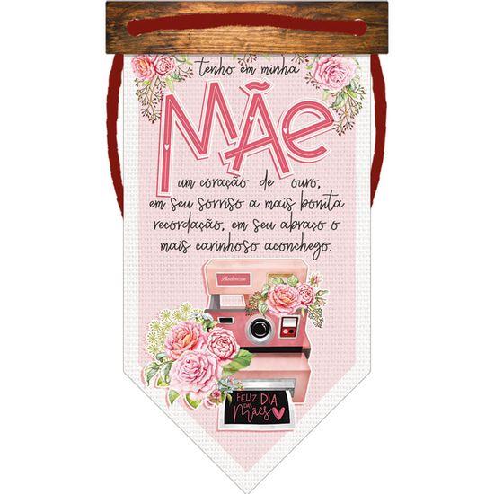 Placa-TAG-MDF-Decorativa-Litoarte-DHT2-172-14x8cm-Bandeirola-Dia-das-Maes