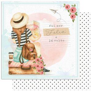 Papel-Scrapbook-Litoarte-15x15-SCXV-004-Viagem-Menina